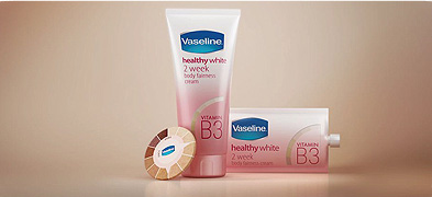 Vaseline healthy white creamer commercial animation 3D